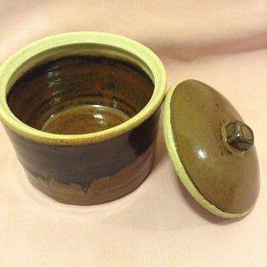 Other - black-brown ceramic jar